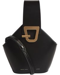 Danse Lente Mini Leather Johnny Bucket Bag - Black