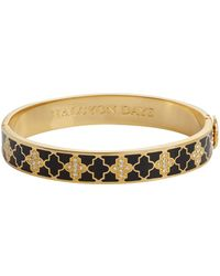 Halcyon Days - Gold And Crystal Agama Bangle - Lyst