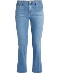 J Brand - Selena Cropped Bootcut Jeans - Lyst