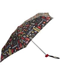 Harrods Glitter London Umbrella - Multicolour
