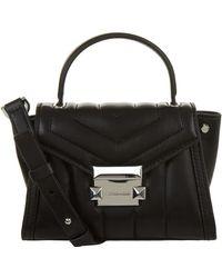 MICHAEL Michael Kors - Mini Whitney Leather Messenger Bag - Lyst