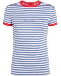 MAX&Co. Striped Logo T-shirt - Blue