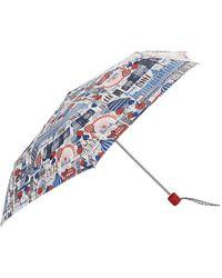 Harrods Pretty City Umbrella - Blue