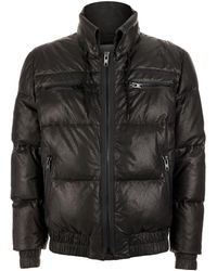 KENZO Leather Puffer Jacket - Black