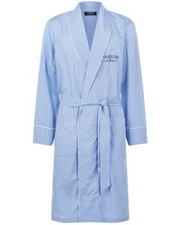 Harrods | Micro Grid Cotton Robe | Lyst