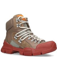 64f8bca8f40f Lyst - Giuseppe Zanotti  lorenz  Suede Fur High Top Wedge Sneakers ...
