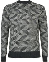 J.Lindeberg - Chevron Print Sweater - Lyst