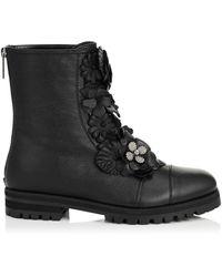 Jimmy Choo Havana Flat Boots - Black