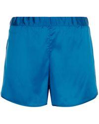 Harrods - Silk Mesh Trim Pyjama Shorts - Lyst