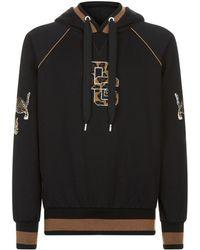 Dolce & Gabbana - Leopard Logo Hoodie - Lyst