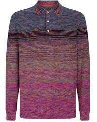 Missoni Dgrad Stripe Polo Shirt - Blue