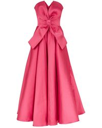 Alexis Mabille Strapless Bow Front Dress - Pink