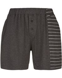 Homebody - Striped Lounge Shorts - Lyst