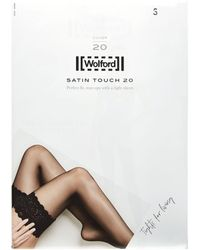 Wolford Satin Touch 20 Stay Up Stockings - White