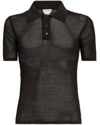 Bottega Veneta Mesh Polo Shirt - Brown