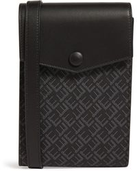 Dunhill Leather And Canvas Signature Pocket Bag - Black