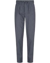 Hanro Cotton Check Pyjama Bottoms - Grey