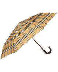 Burberry Leather Handle Umbrella - Yellow