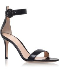 Gianvito Rossi - Leather Louis Sandals - Lyst