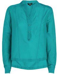 ME+EM Cotton-silk Bib Shirt - Blue