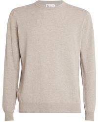 Johnstons of Elgin Cashmere Sweatshirt - Natural