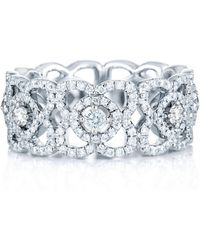 De Beers - White Gold Enchanted Lotus Band - Lyst