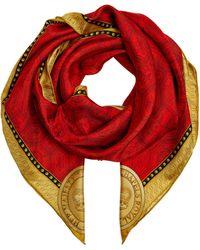 Halcyon Days Silk Chapel Royal Scarf - Red