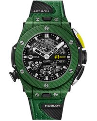 Hublot Carbon Big Bang Unico Golf Watch 45mm - Green