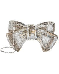 Judith Leiber Just For You Bow Minaudire - Metallic