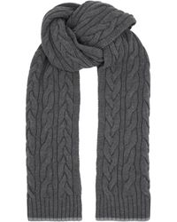 Harrods - Cable Knit Scarf - Lyst