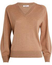 Peserico V-neck Sweater - Brown