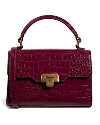 Harrods Micro Mini Brent Top-handle Bag - Purple