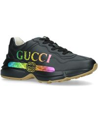Gucci Rhyton Logo Sneakers - Black