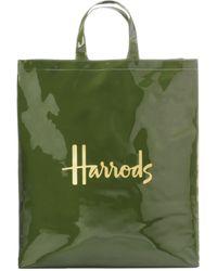 Harrods Small Logo Shopper Bag - Green