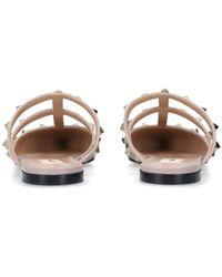Valentino Garavani Valentino Garavani Garavani Patent Rockstud Flats - Black