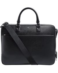 Montblanc Sartorial Leather Briefcase Portfolio - Black