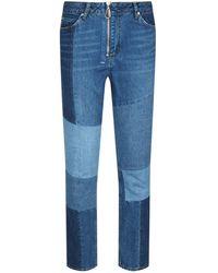Sandro - Skinny Patchwork Jeans - Lyst