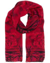 Givenchy - Silk Floral Kaleidoscope Scarf - Lyst