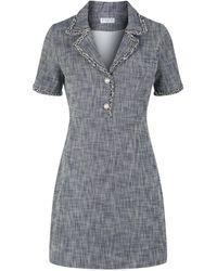 Claudie Pierlot Tweed Dress - Blue