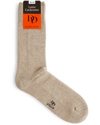 Doré Doré Cashmere-blend Socks - Natural