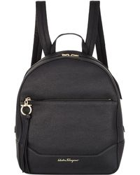 Ferragamo - Medium Samy Leather Backpack - Lyst