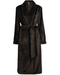 Calvin Klein Fluffy Robe - Black