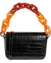 MAX&Co. Croc-embossed Shoulder Bag - Black