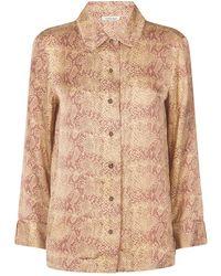 Love Stories Snake Print Joe Pyjama Shirt - Brown