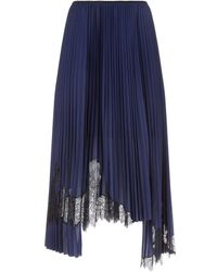Helmut Lang - Pleated Tricot Skirt - Lyst
