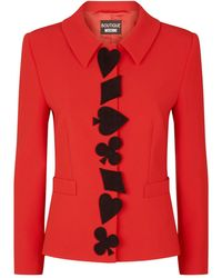 Boutique Moschino Playing Card Jacket - Black