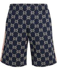 Gucci GG Supreme Shorts - Blue
