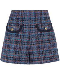 Sandro Metallic Tweed Shorts - Natural