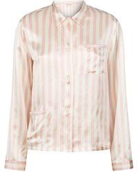 Morgan Lane Silk Ruthie Pajama Top - Multicolor