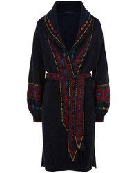 Etro - Patterned Knit Coat - Lyst